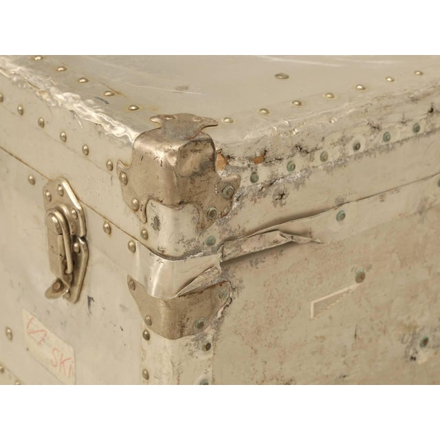 French Metal Trunk For Sale In Chicago - Image 6 of 10