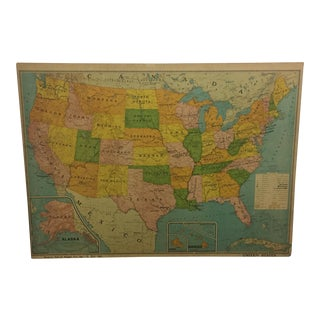 1972 Map of United States on Board