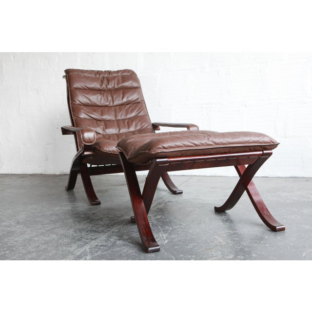 Mid-Century Modern Vintage Mid Century Ekornes Lounge Chair and Ottoman For Sale - Image 3 of 6