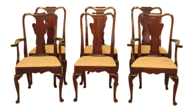 Statton Stratford Cherry Dining Room Chairs - Set of 6 For Sale | Chairish