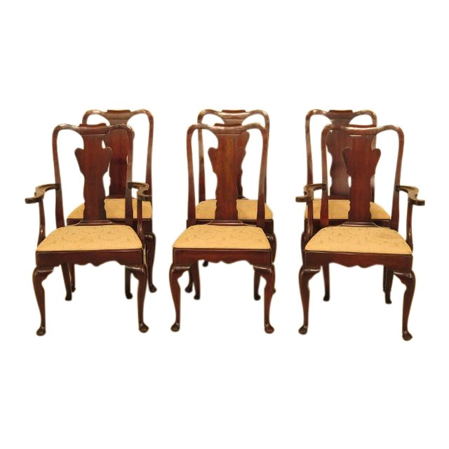 Pleasant Statton Stratford Cherry Dining Room Chairs Set Of 6 Download Free Architecture Designs Grimeyleaguecom