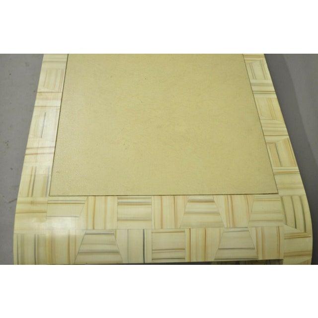 Beige Allesandro Baker Karl Springer Style Cream Console Table For Sale - Image 8 of 13