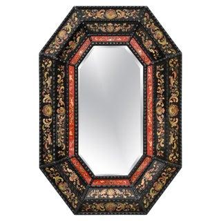 Renaissance Style Italian Eglomise Octagonal Mirror For Sale