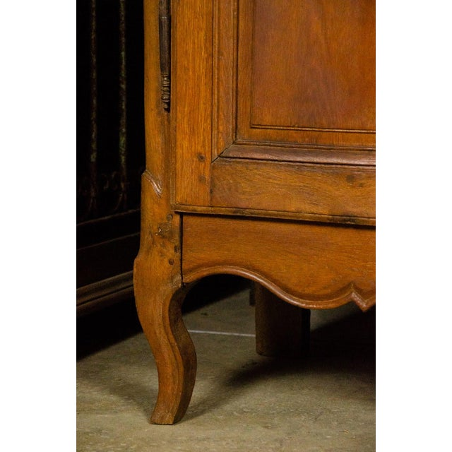 19th Century Louis XV Antique French Carved Armoire For Sale - Image 9 of 13