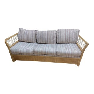 Woven Wicker Rattan Sleeper Sofa by Henry Link