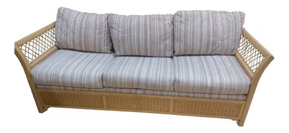 Genial Woven Wicker Rattan Sleeper Sofa By Henry Link   Image 1 Of 10