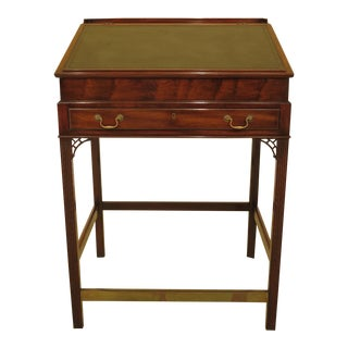 1970s Vintage Kittinger T-448 Leather Top Mahogany Desk For Sale