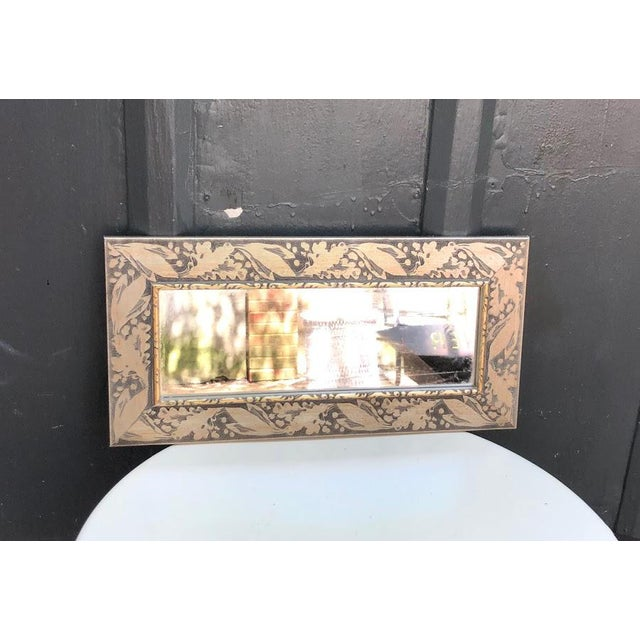 """Silver wood-frame rectangular wall mirror. Excellent condition. Can be hung vertically or horizontally. Measures 17.5"""" x..."""