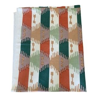 Brunschwig& Fils Kabul Ikat Geometric Stripe Linen Fabric- 4 Yards For Sale