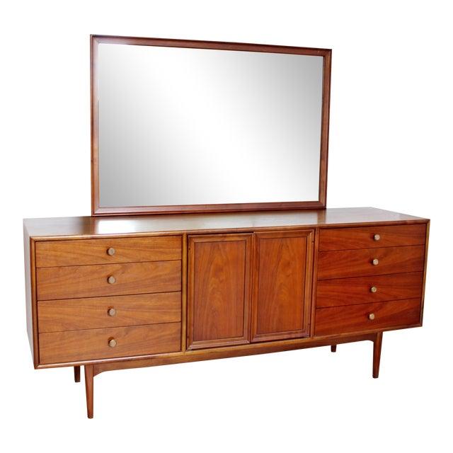 1960sMid-Century Modern Kipp Stewart for Drexel Declaration Walnut Dresser Credenza For Sale