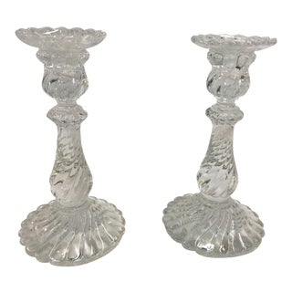 Baccarat Candlesticks Bambous For Sale