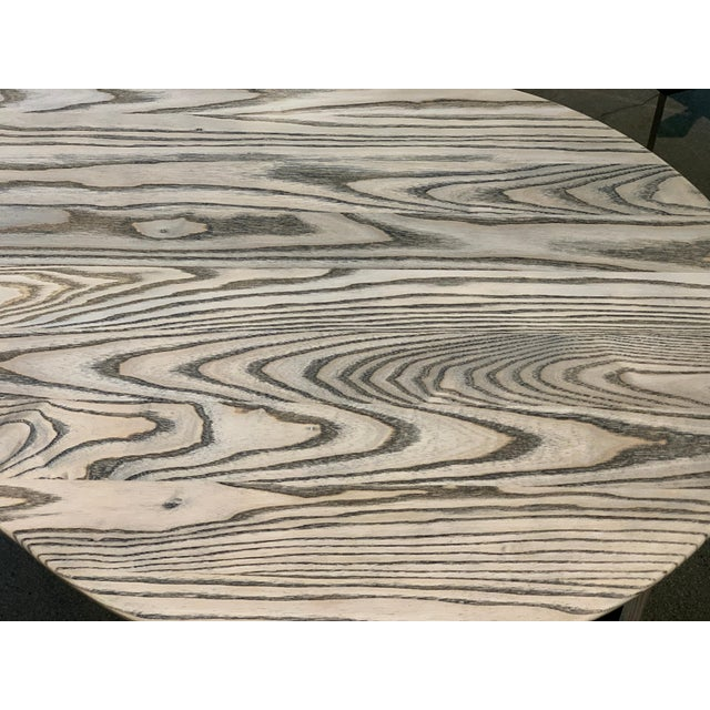 Mid-Century Modern Kidney Biomorphic Shaped Oak Desk For Sale - Image 3 of 13
