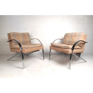 Mid-Century Milo Baughman Style Lounge Chairs Preview