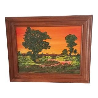 "Oil on Canvas 3d Hawaiian Art Original Signed by Artist ""Kap"" For Sale"