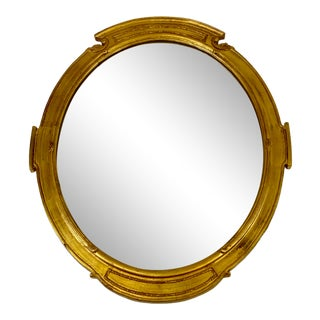 Late 20th Century Carvers Guild Oval Wall Mirror For Sale