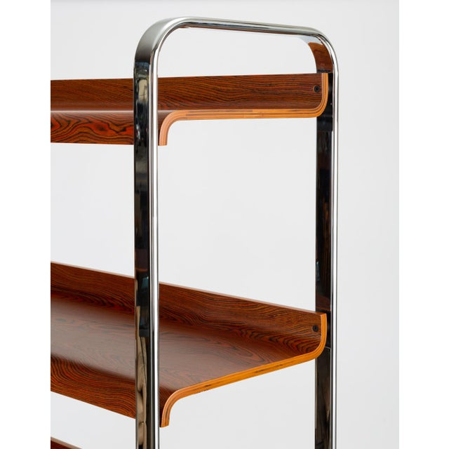 1970s Zebrawood and Chrome Bookshelf by Peter Protzmann for Herman Miller For Sale - Image 5 of 13