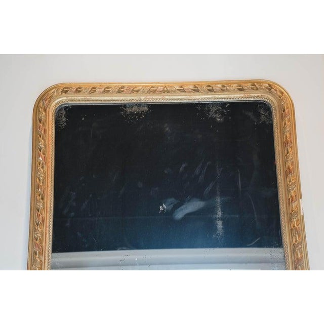 French 19th Century French Gold Louis Philippe Mirror For Sale - Image 3 of 10