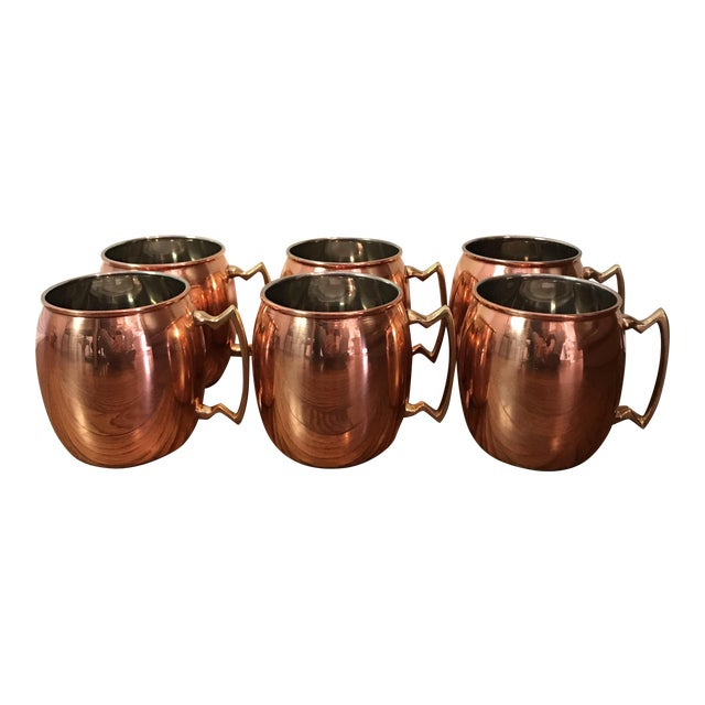 Moscow Mule Copper Mugs - Set of 6 - Image 1 of 6