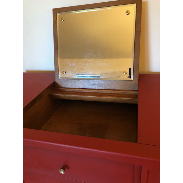 Drexel Heritage Mid-Century Campaign 1960's Drexel Dresser For Sale - Image 4 of 11