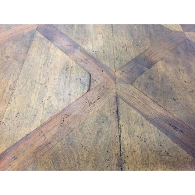 Walnut French Parquetry Top Walnut Center Table For Sale - Image 7 of 8