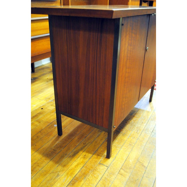 Small Mid-Century Walnut & Brass Bar - Image 8 of 8