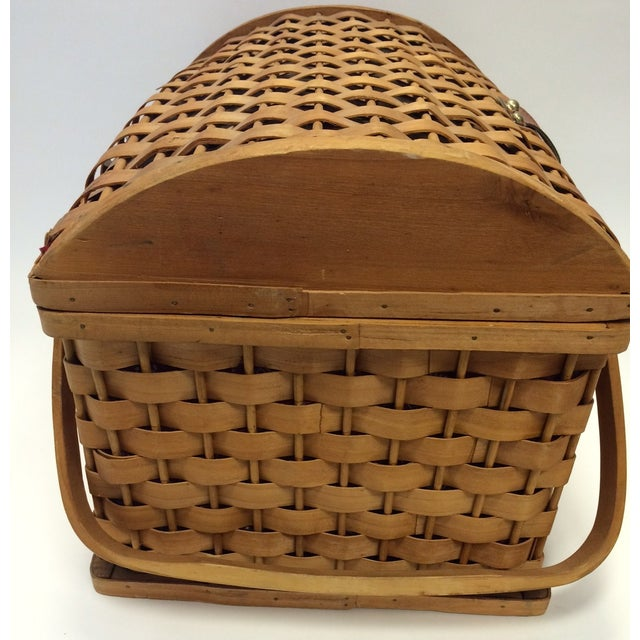 Picnic Basket With Dishware - Image 5 of 6
