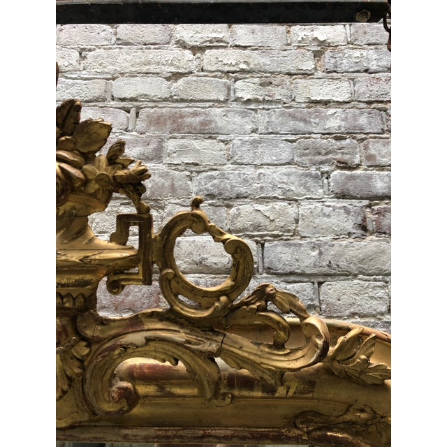 Gold 19th Century French Gilded Mirror For Sale - Image 8 of 12