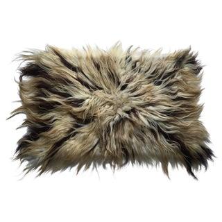 """Handmade Natural Wool Shaggy Tulu Rug - 3'6"""" X 2'6"""""""
