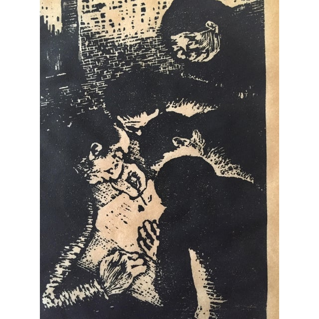 Vintage Fayga Ostrower Woodblock Print - Image 3 of 5