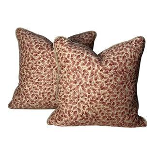 "Bennison's ""English Oakleaf"" Pillows - a Pair For Sale"
