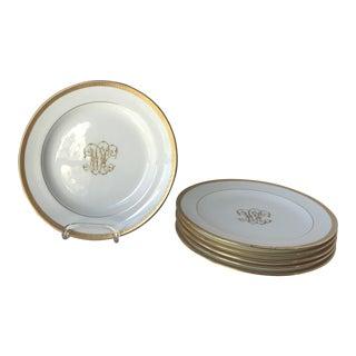 Antique Cauldon Monogrammed Plates - Set of 6