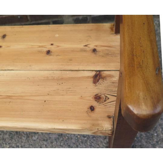 Early 20th Century English Pine Long Bench For Sale - Image 5 of 6
