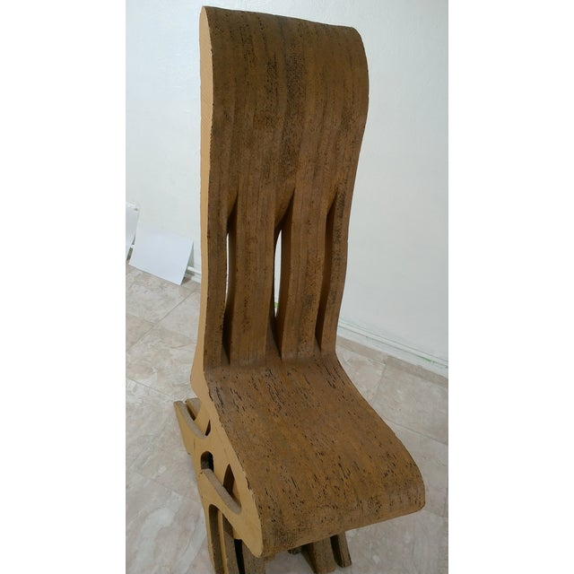 Vintage Cardboard Chair, 1970s For Sale - Image 9 of 11