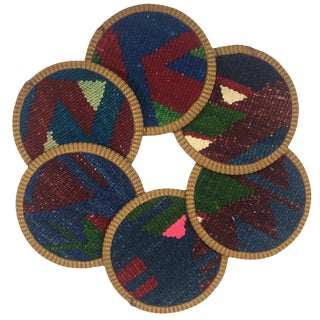 Kilim Coasters Set of 6 | Aşure For Sale