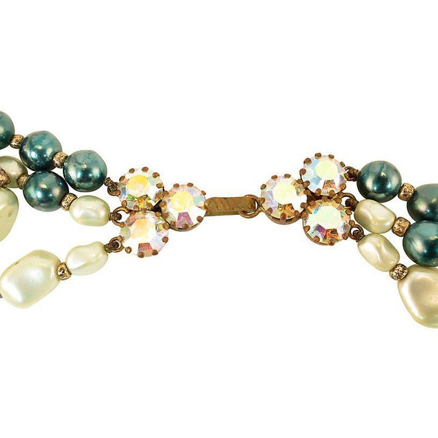 Glass Austrian Crystal & Peking Glass Necklace, 1950s For Sale - Image 7 of 8