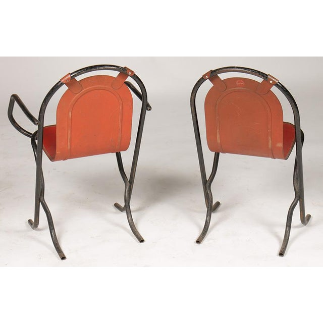 French French Wrought Iron Cafe Chairs For Sale - Image 3 of 5