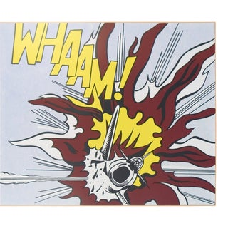 2007 Roy Lichtenstein 'Whaam B' Pop Art Yellow,Brown,White,Black,Multicolor United Kingdom Offset Lithograph For Sale