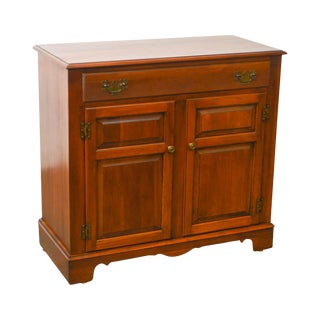 Tell City Vintage Cherry Wood Traditional 2 Door 1 Drawer Server Cabinet