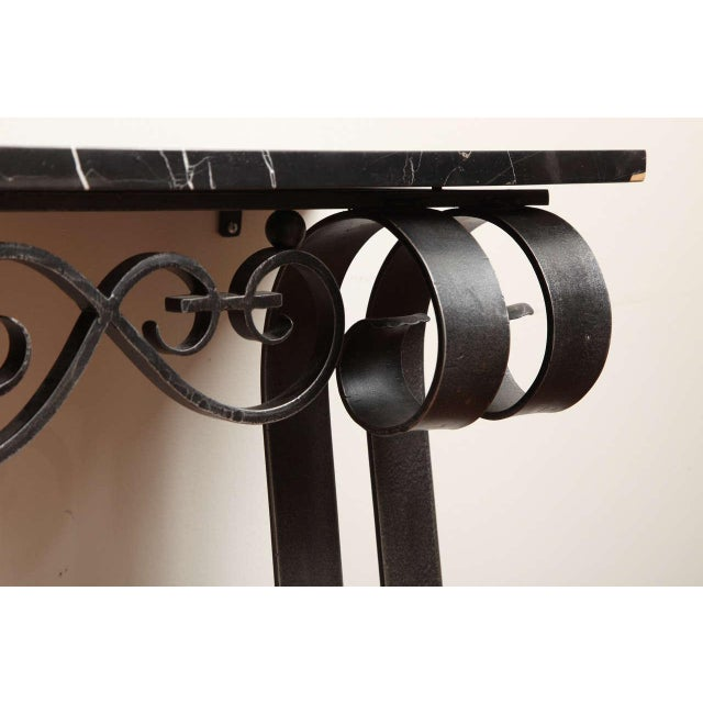 1930s Art Deco Wrought Iron Console For Sale - Image 5 of 10