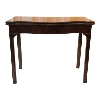 Antique English George II Mahogany Game Table, Circa 1760. For Sale