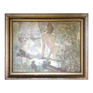 Original Figurial Oil on Canvas Painting by Thornton Utz For Sale