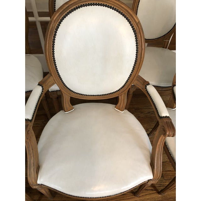 1960s 1960s Vintage Baker Furniture Leather Dining Chairs-Set of 8 For Sale - Image 5 of 12