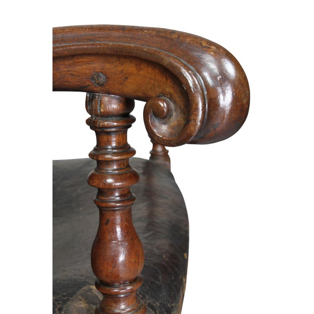 Italian Baroque Walnut Armchairs - a Pair For Sale - Image 4 of 11