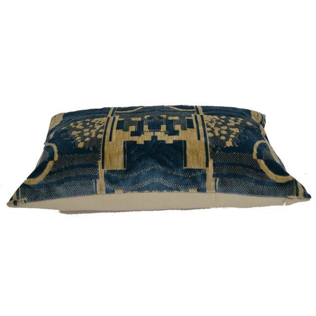 Luigi Bevilacqua of Milan Blue Art Deco Velvet Lumbar Pillows - a Pair For Sale In Los Angeles - Image 6 of 12