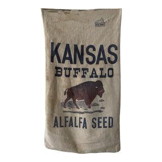 Vintage Kansans Buffalo Alfalfa Seed Sack