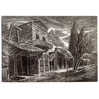 'State Street, Columbia', Woodblock by Charles Frederick Surendorf, 1950s For Sale