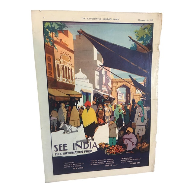 1935 'See India' Lahore Scene Ad For Sale