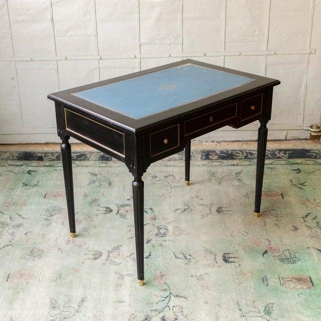 1920s 1920s French Ebonized Mahogany Writing Desk For Sale - Image 5 of 13