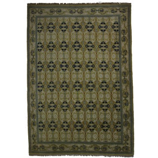 Vintage Hand Knotted Wool Spanish Rug - 10' X 14' For Sale