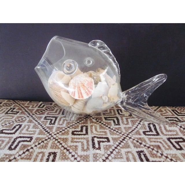 Blenko Glass Fish Planter Terrarium - Image 7 of 9